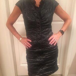 Etcetera Black Ruched Dress Size 6